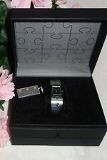 RSW Rama Swiss Watch Women's Classic BLACK Leather Watch NEW