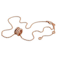 Bvlgari B.Zero1 18K Pink Gold Diamond Necklace 350052