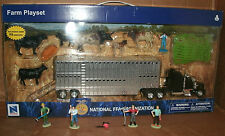 1/43 Kenworth W900 Truck Model With Pot Belly Livestock Trailer and Accessories