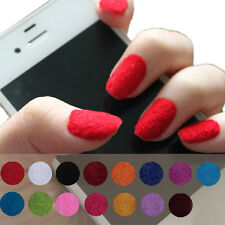 12 Colors Art Glitter Gel Velvet Powder Nail Tips Polish Fingernails Remarkable