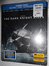 THE DARK KNIGHT RISES BEST BUY STEELBOOK EXCLUSIVE 2 BLU-RAY BRAND NEW SEAL