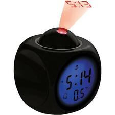 Coby CBC-54-BLK Talking Alarm Clock With LED Projector
