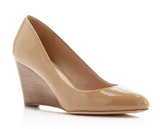 Via Spiga Pamina Patent Wedge Pump Nude Size 8 M