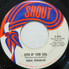 ERMA FRANKLIN 45 Open Up Your Soul / I'm Just Not Ready For Love SHOUT #B99