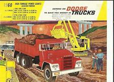 DODGE C800,C900,C1000 4X2,CT700,CT800,CT900 6X4 TRUCK SALE 'BROCHURE' SHEET 1960