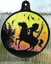 WINDOW SUNCATCHER INDIAN NATIVE AMERICAN SHAMAN STAINED GLASS EFFECT WICCA GIFT