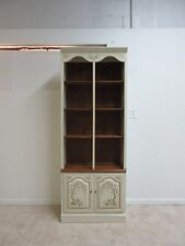 Ethan Allen Paint Decorated Library Unit Shelf Display Curio Hutch  A