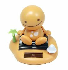 Solar Power Toy Orange Nohohon Smiling Sunny Doll on Island Beach Gift US Seller