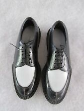 Black and White Mens' Miniature Plastic Dress Shoes - Vintage Hong Kong