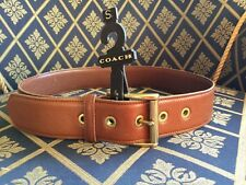 VINTAGE COACH #3915, LEATHER BELT 'Glove Tanned Cowhide' BRITISH TAN, Womens S