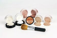 WARM XXL KIT w/ BRUSH Full Size Mineral Makeup Set Bare Skin Powder Foundation