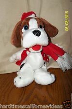 """NEWS CHANNEL 5 OFFICIAL MASCOT NEWS HOUND CHRISTMAS PLUSH 8"""""""