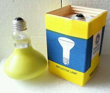 Vintage GE Frosted Yellow 75W Incandescent Reflector Lamp Bulb NOS
