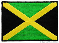 JAMAICA FLAG PATCH RASTAFARIAN JAMAICAN KINGSTON RASTA embroidered iron-on NEW