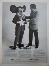 11/1974 PUB EASTERN AIRLINES WALT DISNEY DISNEYWORLD MICKEY / AEROSPATIALE AD