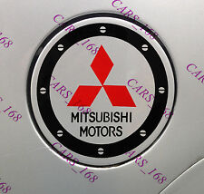 Amazing Car Fuel Gas Tank Cap Stickers Adhesive Graphic For Mitsubishi (Black)