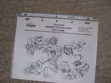 1964 Clinton D55-1000 Chainsaw Illustrated Basic Parts List MORE IN OUR STORE  G
