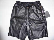 8558 bape x dover black collection shark leather shorts M