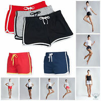 Womens Ladies Girls Retro Shorts Training Fitness Sports Gym Shorts Free PnP