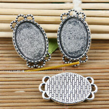 10pcs tibetan silver oval cameo in 18x13mm cabochon settings EF2103