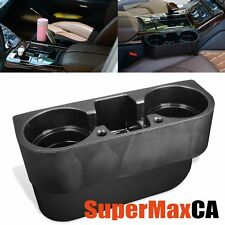 AUTO CAR VEHICLE DOUBLE CUP HOLDER PHONE DRINK BEVERAGE MOUNT VALET ORGANIZER