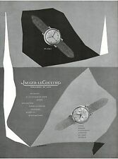 ▬► PUBLICITE ADVERTISING AD Montre Watch JAEGER-LECOULTRE P. Praquin (b) 1954