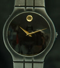 MOVADO MUSEUM Quartz MENS WATCH 84-41-860 A Black PVD Steel RARE Unique SWISS X