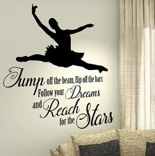 XXL Ballet Dance Dreams Quotes wall vinyl decals stickers Art Wall Graphics