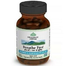 Organic India, BREATHE FREE capsules, Herbal Supplements, 60 Veg Cap.