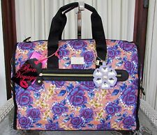 Betsey Johnson Weekender Luggage Duffle Crossbody Bag Floral NWT