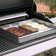 Stainless BBQ Griddle Gas Burner Barbecue Grill Charcoal Smoker Patio Outdoor