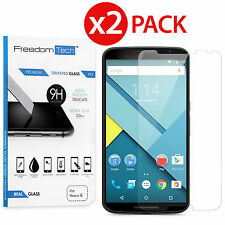 2x Premium Real Tempered Glass Screen Protector Film For Motorola Google Nexus 6
