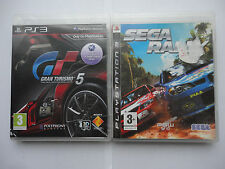 Sega Rally & Gran Turismo 5 Game Bundle for Sony Playstation 3 PS3 consoles GT 5