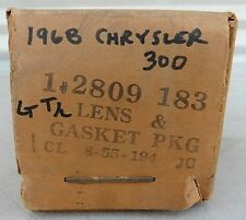 1968 Chrysler 300 NOS MOPAR Driver Tail Light Lamp Lens & Gasket