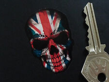 "UNION JACK Style SKULL Bike Car STICKERS 2""Pair GreatBritain British Flag Rocker"