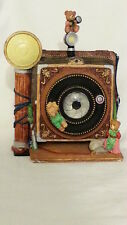 """Music box """"Camera"""" with three Bears, One Bear spins, One Rotates - CHARMING"""