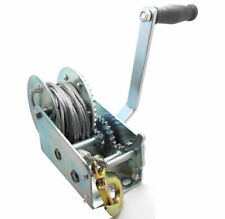 UI PRO TOOLS 2000 lb Gear Winch for Boat Truck Car Trailer ATV Heavy Duty Cable Hand Winch