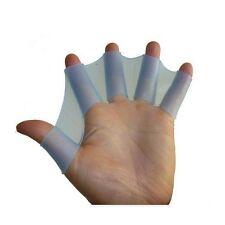 Soft silicone swimming fins flippers frog hand swim web webbed glove size l
