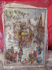 Vintage Advent Calendar Stuttgart Western Germany Horse Drawn Carriage No 2