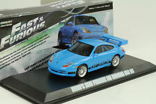 2001 Brians PORSCHE 911 996 gt3 RS Blue Blu Fast & and Furious 1:43 Greenlight