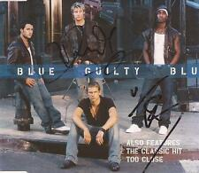 BLUE: DUNCAN JAMES & SIMON WEBBE SIGNED CD SLEEVE *GUILTY*+COA
