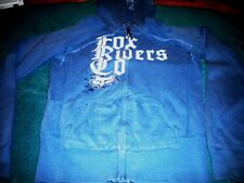 JRS. FOX RIDERS CO. ZIPPER FRONT HOODIE W/METAL STUDS DECOR/LOGO PULL-SIZE SMALL