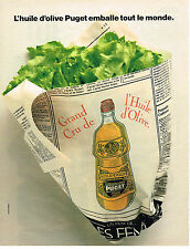 PUBLICITE ADVERTISING 094  1989  PUGET   huile d'OLIVE GRAND CRU