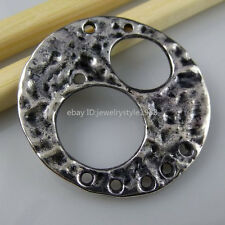 10555 10PCS Alloy Round Charm Connector Pendant Fashion Jewelry Finding