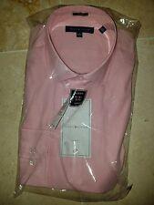 TOMMY HILFIGER MEN'S PINK MIST DRESS SHIRT 16 1/2-32/33 SLIM FIT MSRP $69 NWT