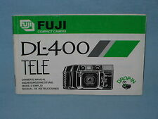 FUJI DL-400 TELE CAMERA OWNER'S MANUAL