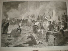 South Middlesex Rifle VOLONTARI costruire un Drill Hall Piccadilly Londra 1862 Print