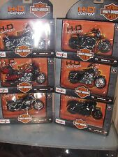 Toy Maisto Set Series 34 - 1:18 Harley Davidson Motorcycle Diecast  6 set