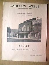 1940 Ballet- Ninette De Valois's LE LAC DES CYGNES,RAKE'S PROGRESS,LES PATINEURS