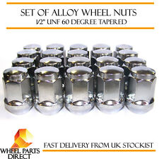 "Alloy Wheel Nuts (20) 1/2"" UNF Degree Tapered for Ford Mustang 2004-2015"